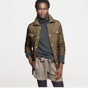 J. Crew olive XS Quilted down excursion jacket